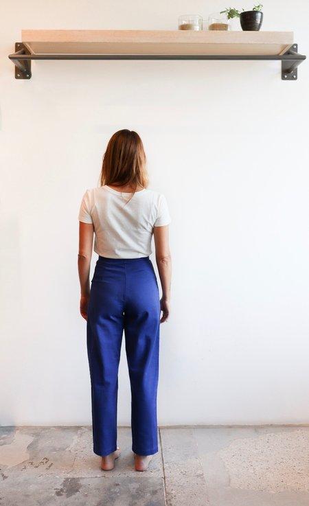 Ilana Kohn Huxie Pants in Mazarine Heavy Twill