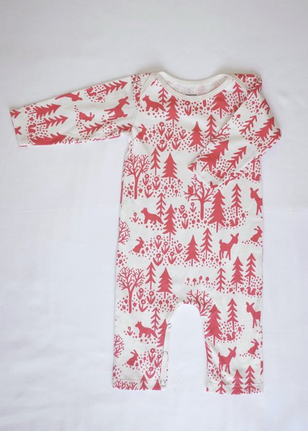 KIDS Winter Water Factory Long Sleeve Romper - Winter Scenic Red