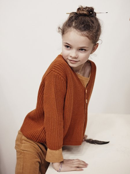 kids le petit germain Leo Cardigan - Rust
