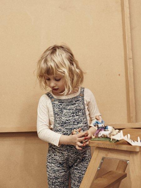 kids le petit germain Cleo Baby Knit Salopette - Mix Rust