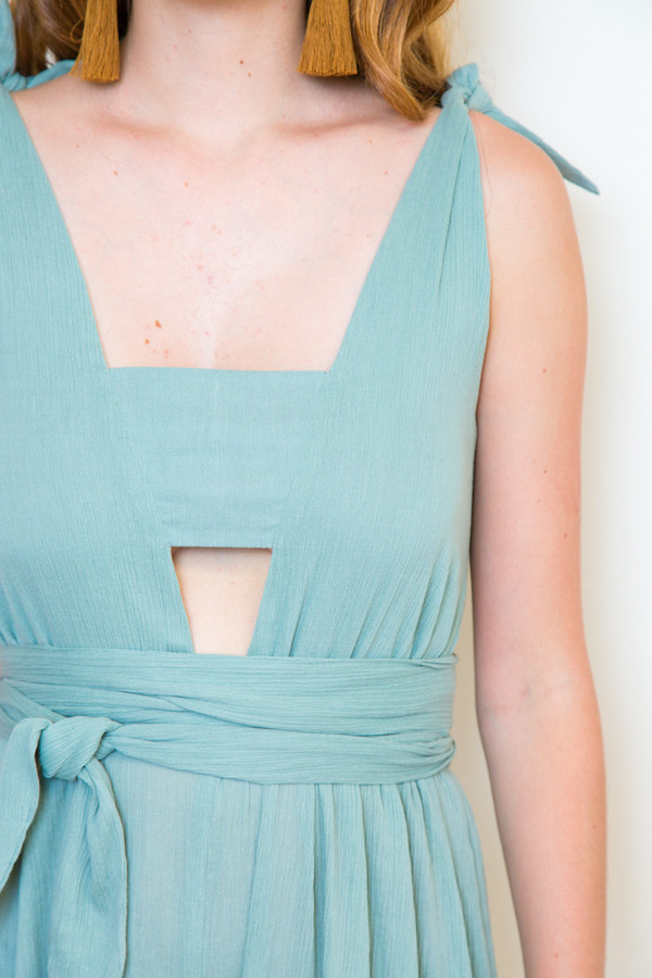 Mara Hoffman Gauze V-neck Jumpsuit