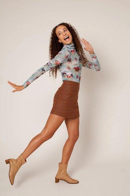 Rachel Antonoff Richard Mini Skirt - Whiskey Plaid