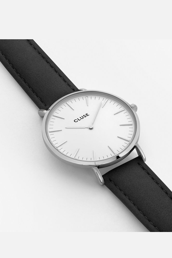 CLUSE WATCH La Boheme Silver White/Black