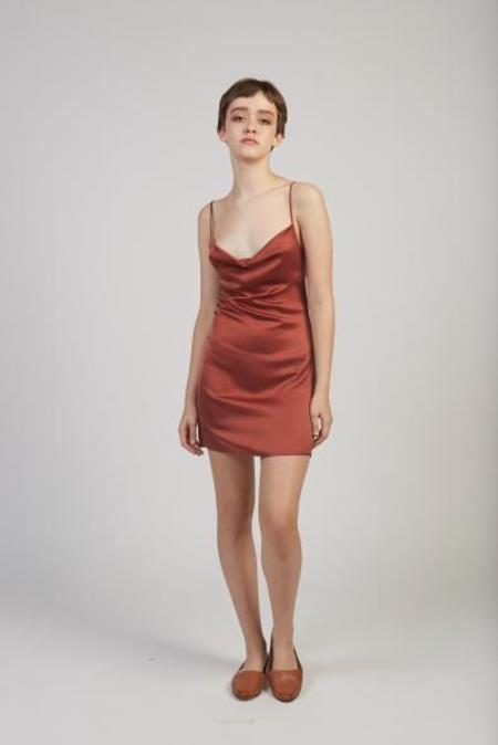 Paloma Wool Altavista silk stretch dress - burgundy