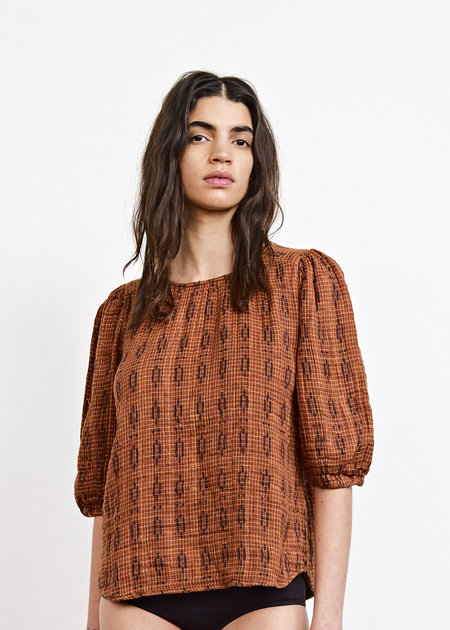 Ace & Jig Goldie Blouse in Hero