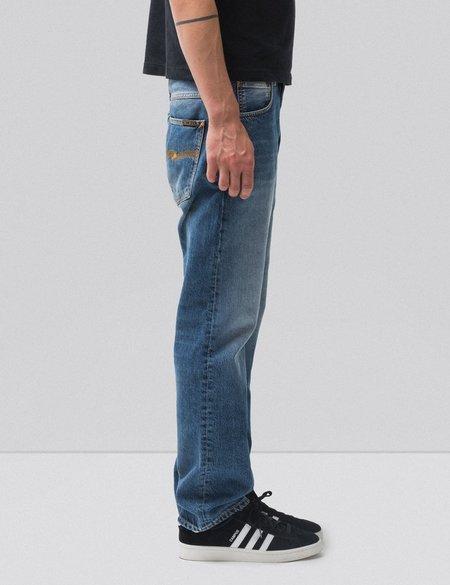 Nudie Sleepy Sixten Relaxed Straight Jeans - Celestial Orange Blue