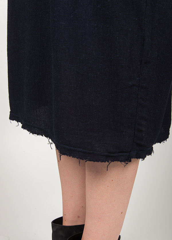 Black Crane - Plain Dress in Eggplant