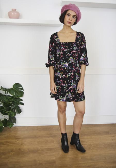 Rollas Valerie Meadow Dress - Black