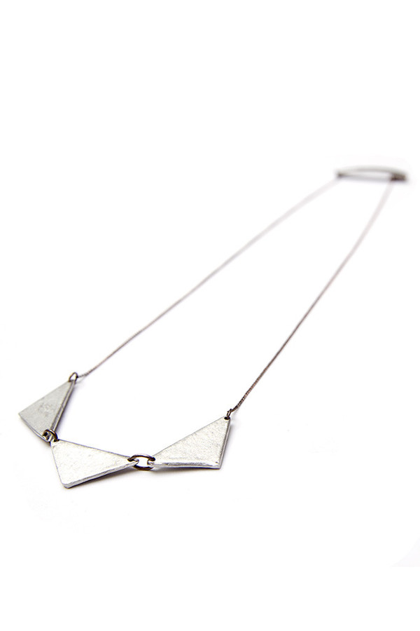 Article 22 Peacebomb Triple Triangle Necklace