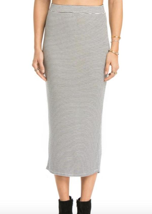 AMUSE SOCIETY Stacy Knit Skirt - Stripe