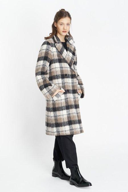Jungle Folk Aki Baby Alpaca Checked Coat
