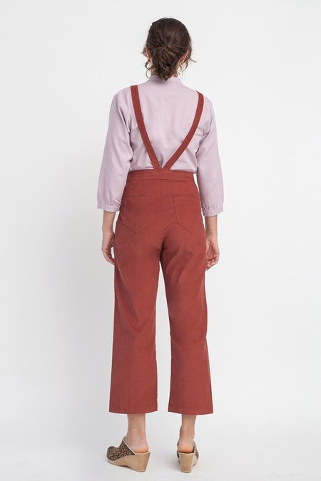 loup Flora Corduroy Overalls - Clay