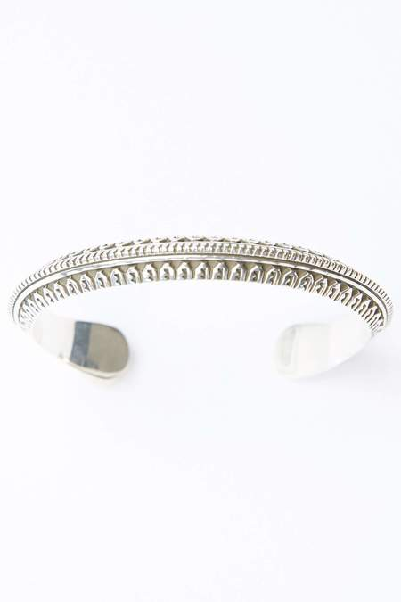 Lyle Secatero Protection & Rain Cuff Bracelet - Silver