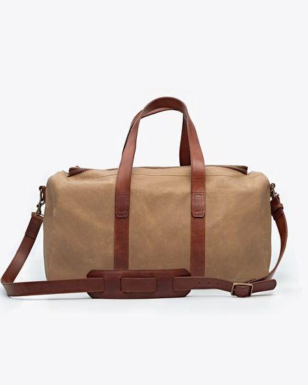 Nisolo Luis Weekender Waxed Canvas bag - natural