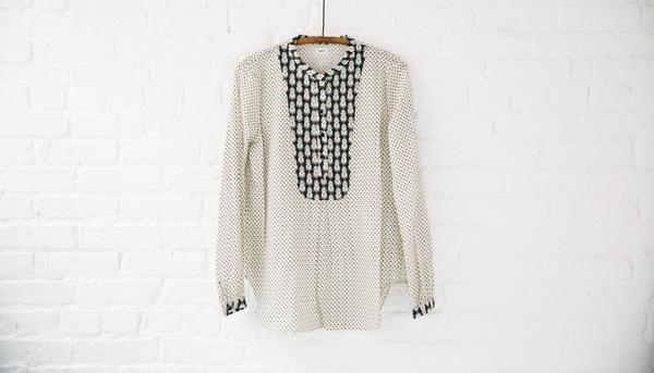 Warm blouse warm bib blouse