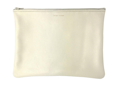 Tracey Tanner Medium Flat Pouch - Iridescent Pearl