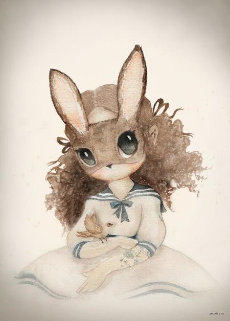 Kids Mrs. Mighetto Miss Rose Limited Edition Print