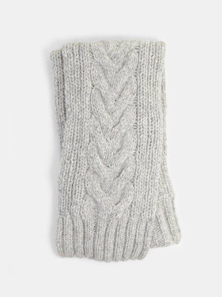 erica tanov cable scarf - light grey