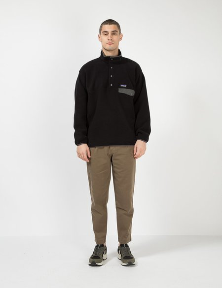 Patagonia Synchilla Snap T Pullover - Black/Forge Grey