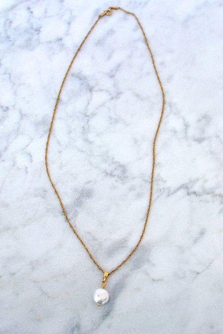 Phyllis + Rosie Pearl Necklace - 14k Gold Vermeil