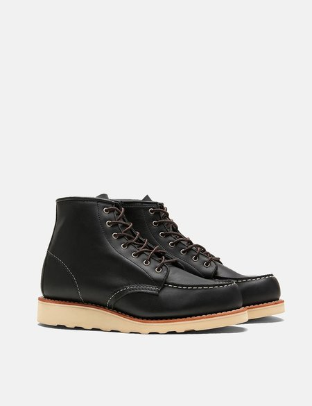 """Red Wing Shoes Heritage Work 6"""" Moc Toe Boots - Black Boundary"""