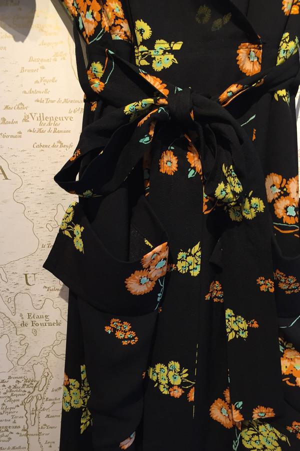 A.L.C. 'Stephanie' silk floral wrap dress
