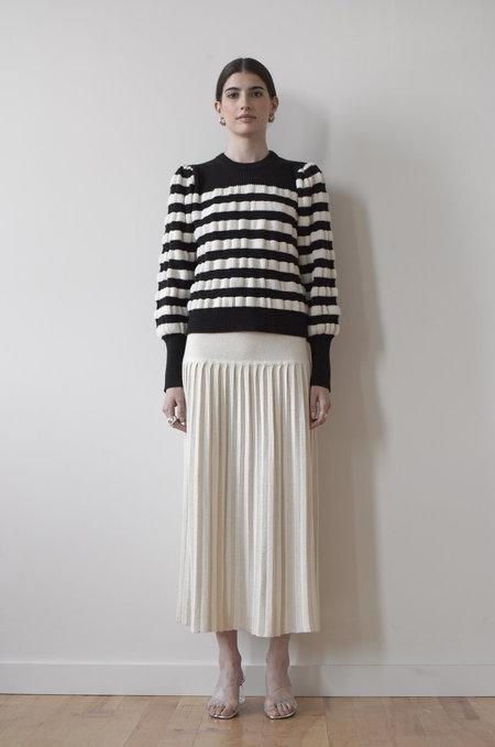 Eleven Six Aimee Stripe Sweater - Black/Ivory