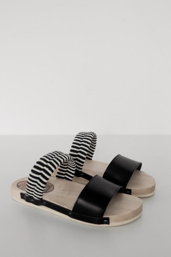 Rosa Mosa Leather/Wood Bobo Sandal