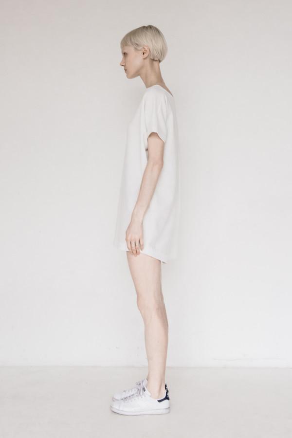 KAAREM Polyester Open Back Dress - White