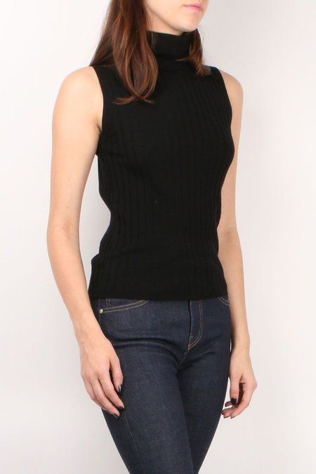 Allude Turtleneck Top - Black