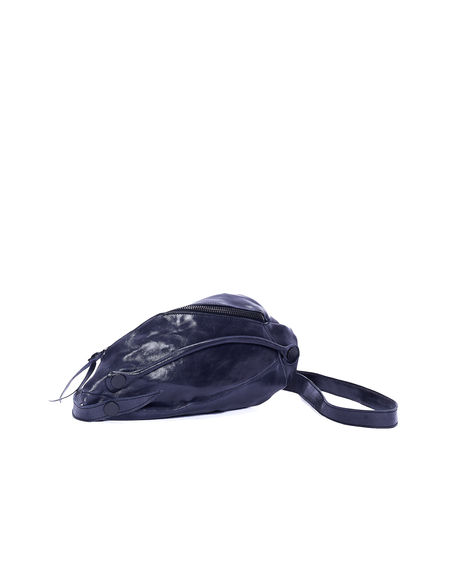 Leon Emanuel Blanck Leather Clutch - Navy Blue