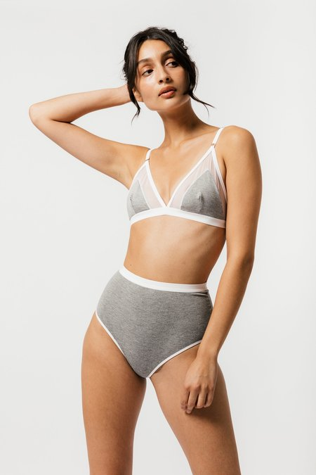 Mary Young Contrast Bra - Grey