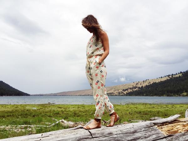 Nahanni Arntzen Cortes jumpsuit- geo print