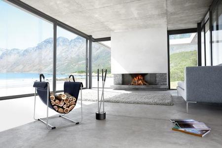 BLOMUS CANNETO fireplace tool set (2pc)