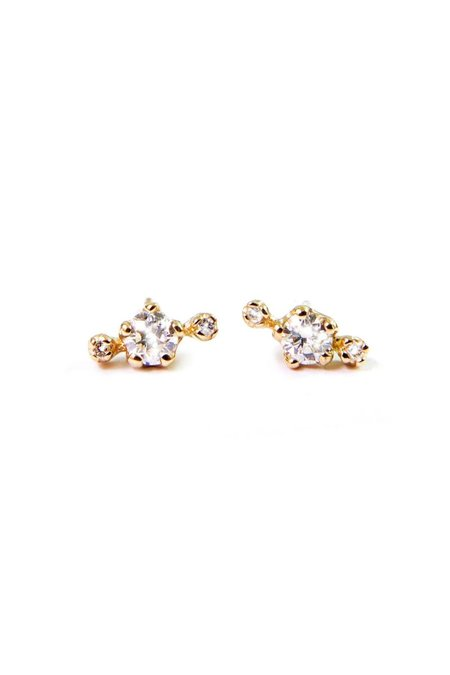 n + a Candy! Diamond Earrings - Yellow Gold