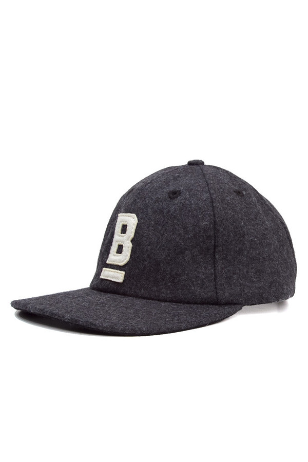 Bridge & Burn B Flat Wool Cap Charcoal