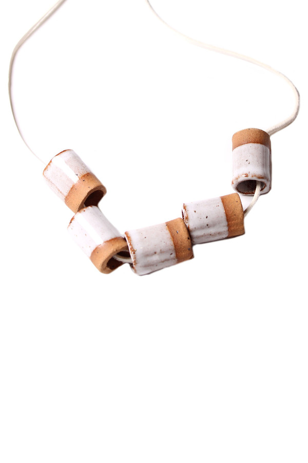 Maple + Mauve Ceramic Dipped Necklace