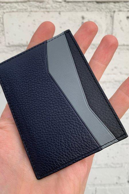 LOEWE Puzzle Plain Cardholder - DEEP Blue/Green