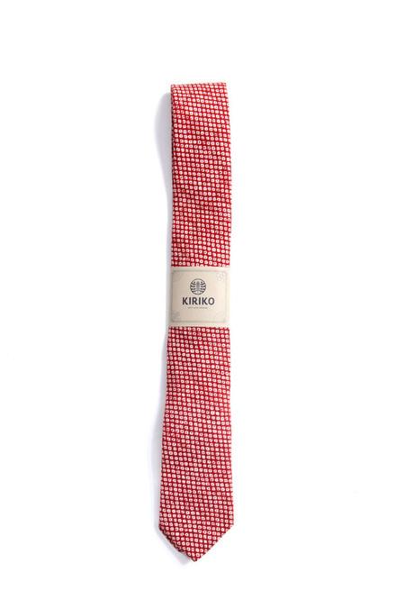 Kiriko Shibori Red Tie