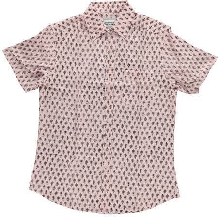 Dushyant Asthana Hand Block Printed The Folk Short Sleeve Shirt - Salmon Motif Print