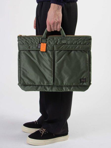 Porter Tanker nylon Brief Case - Sage