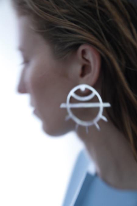 PAR ICI Large Eye Earrings