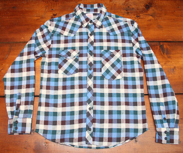 Men's Topo Designs Work Shirt - Blue Plaid Flannel