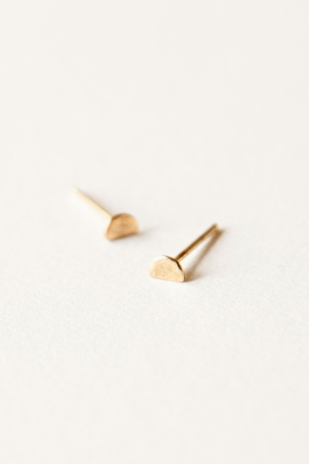 Totem 14k Gold Half-Moon Earrings