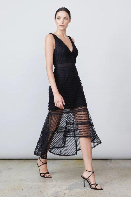 Allen Schwartz Maxwell Deep V-Hi Lo Dress - Black