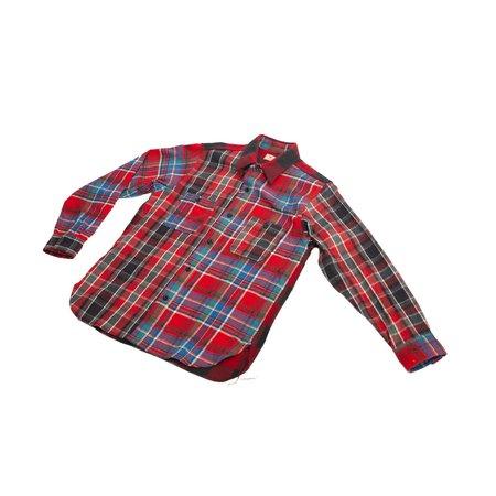 Sugar Cane Crazy Twill Work Shirt - Red