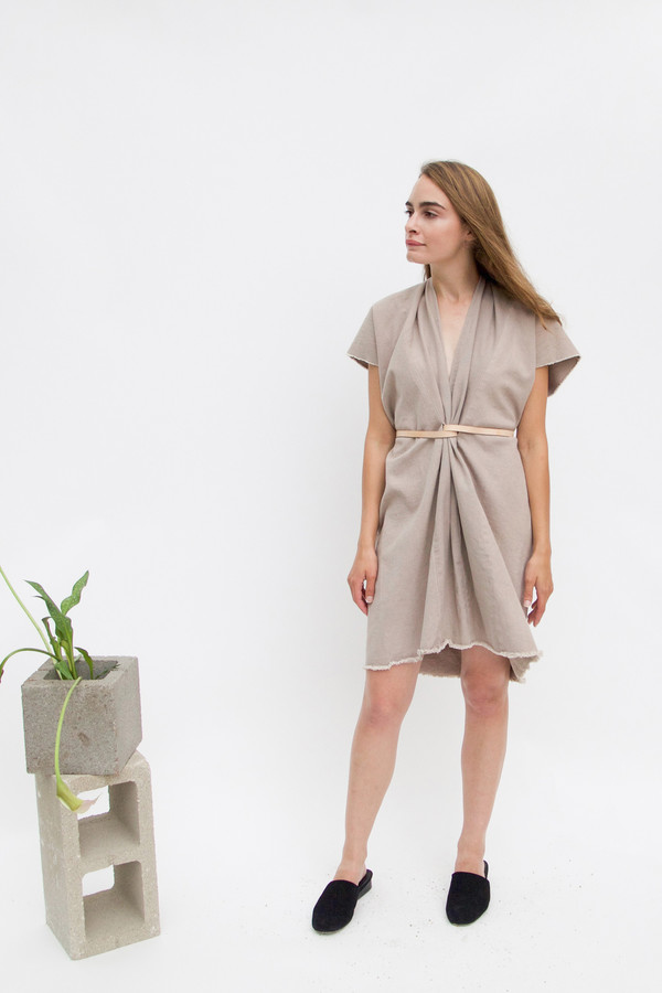 Miranda Bennett Tribute Dress, Denim in Dove