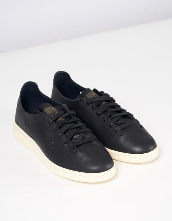 Adidas Men's Stan Smith Lea Sock Black White