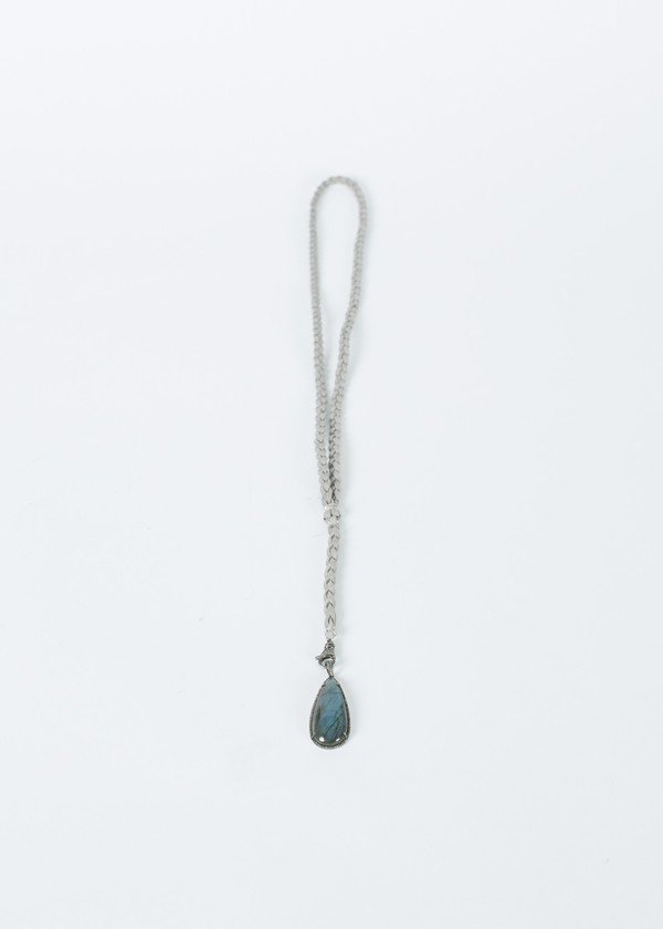 Jewels by Piper Labradorite Pendant Braided Necklace