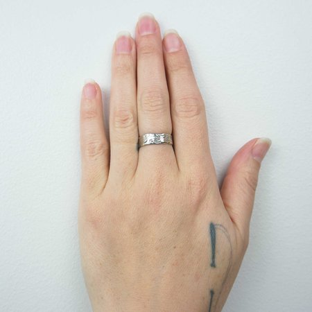 Unisex Monica Squitieri Jewelry Goleta Ring - Silver